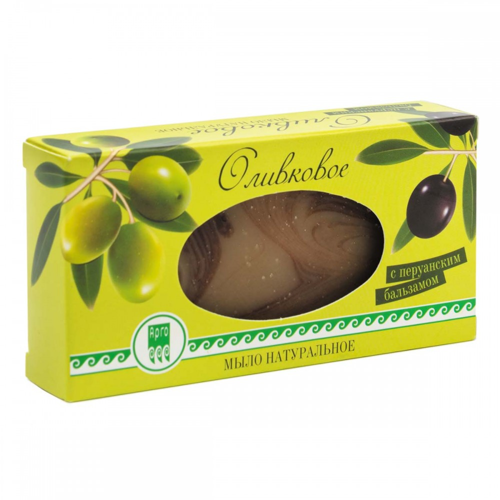 Мыло оливковое с перуанским бальзамом от Пенталис