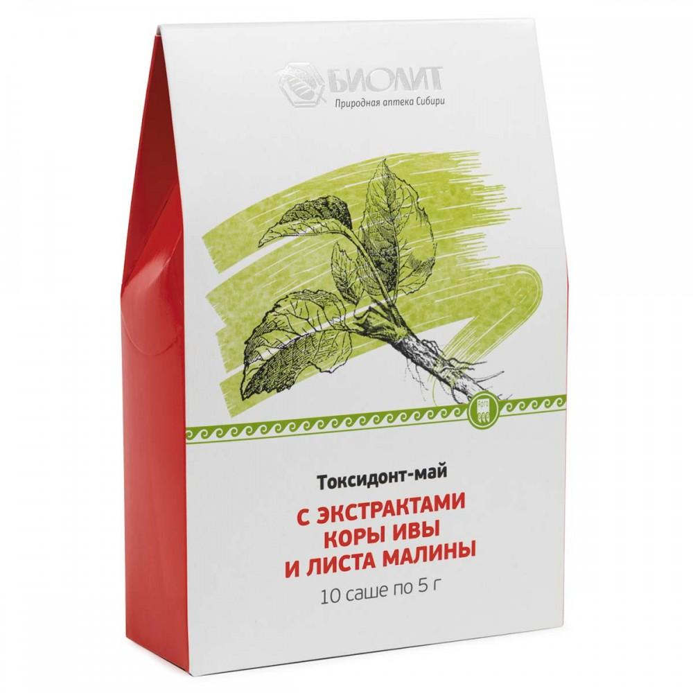 Токсидонт-май с экстрактами коры ивы и листа малины от Биолит