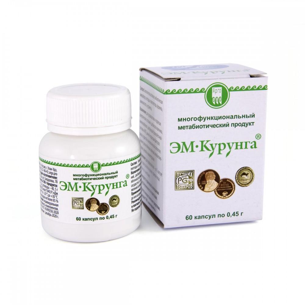 Продукт метабиотический ЭМ-Курунга, капсулы 60 шт. от Арго ЭМ-1